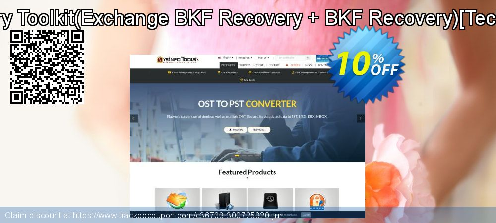 Backup Recovery Toolkit - Exchange BKF Recovery + BKF Recovery [Technician License] coupon on April Fool's Day discount