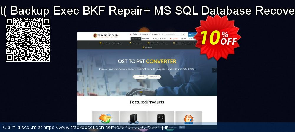 Backup Recovery Toolkit - Backup Exec BKF Repair+ MS SQL Database Recovery [Single User License] coupon on April Fool's Day offering discount