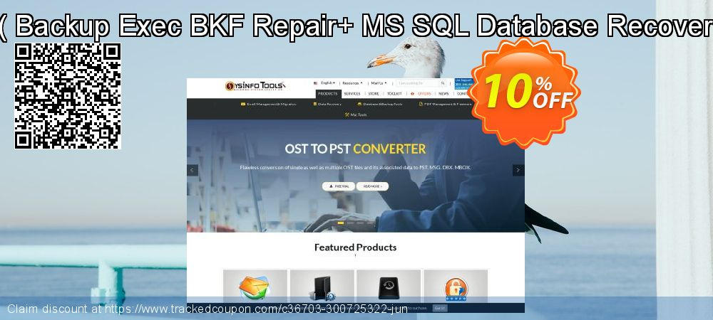 Backup Recovery Toolkit - Backup Exec BKF Repair+ MS SQL Database Recovery [Administrator License] coupon on April Fool's Day offering sales