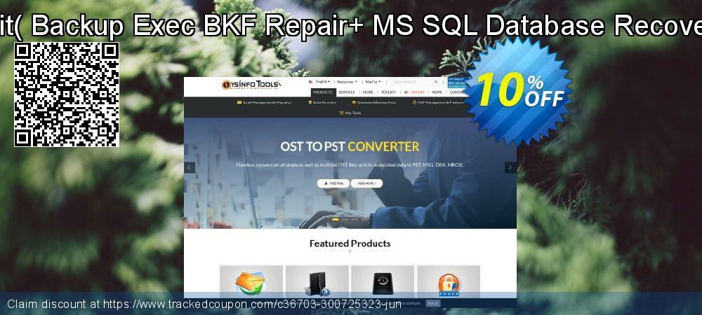 Backup Recovery Toolkit - Backup Exec BKF Repair+ MS SQL Database Recovery [Technician License] coupon on April Fool's Day super sale