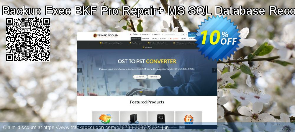 Backup Recovery Toolkit - Backup Exec BKF Pro Repair+ MS SQL Database Recovery [Technician License] coupon on April Fool's Day discounts