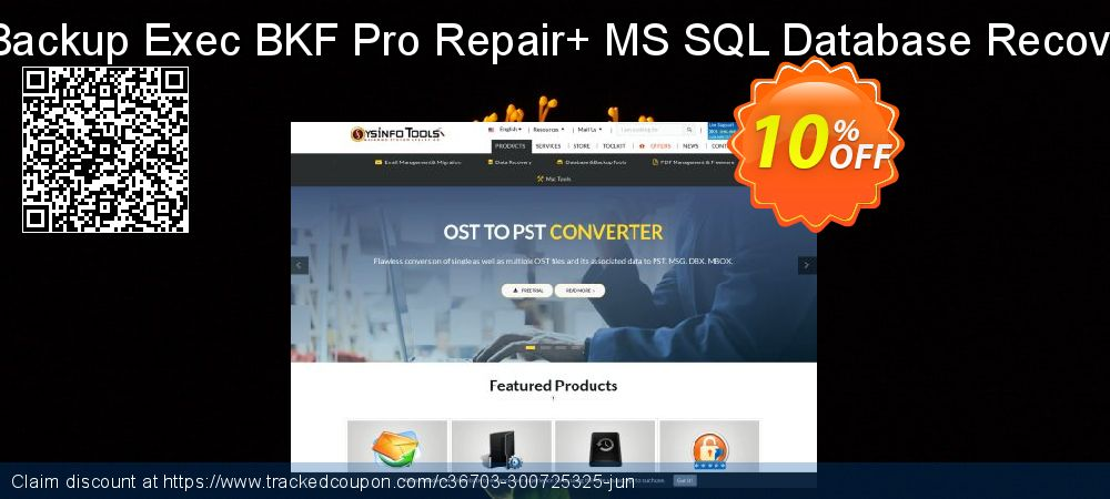 Backup Recovery Toolkit - Backup Exec BKF Pro Repair+ MS SQL Database Recovery [Administrator License] coupon on April Fool's Day promotions
