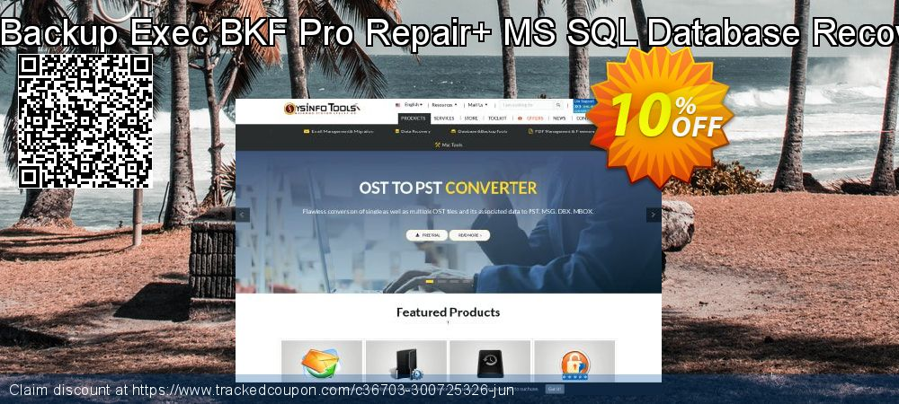 Backup Recovery Toolkit - Backup Exec BKF Pro Repair+ MS SQL Database Recovery [Single User License] coupon on April Fool's Day sales