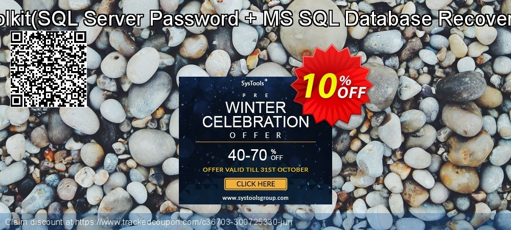 Password Recovery Toolkit - SQL Server Password + MS SQL Database Recovery - Single User License  coupon on Happy New Year offering sales