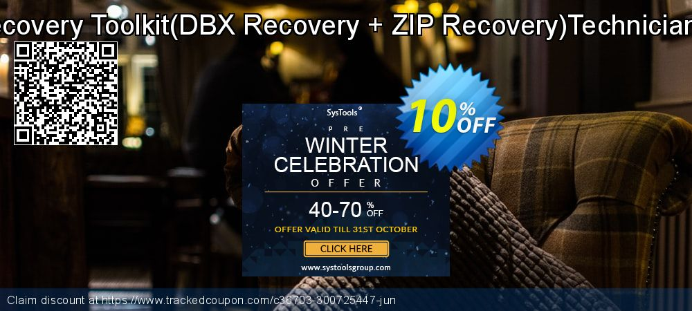 Get 10% OFF Email Recovery Toolkit(DBX Recovery + ZIP Recovery)Technician License offering sales