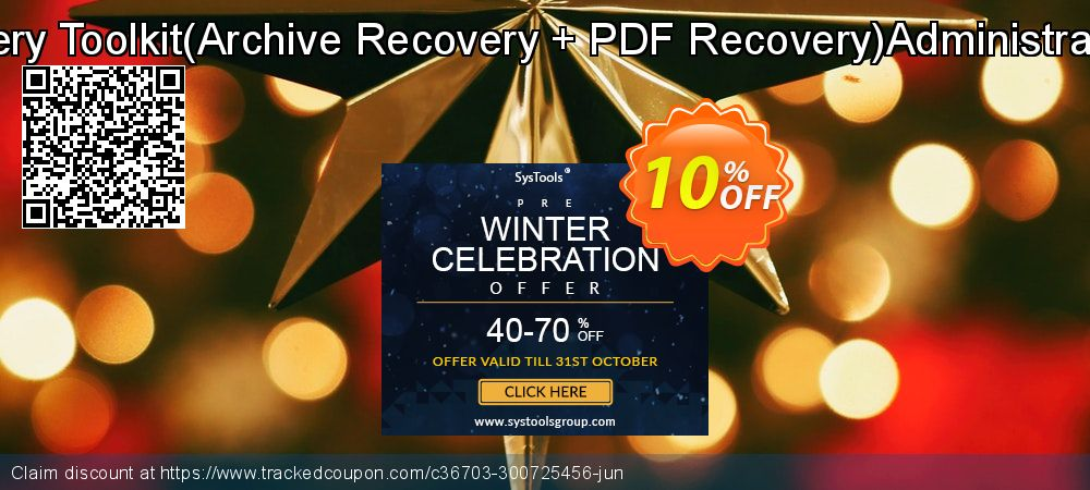 File Recovery Toolkit - Archive Recovery + PDF Recovery Administrator License coupon on Thanksgiving super sale