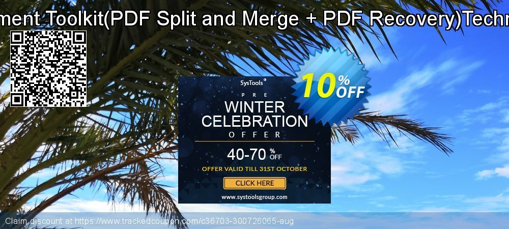 PDF Management Toolkit - PDF Split and Merge + PDF Recovery Technician License coupon on Halloween offer