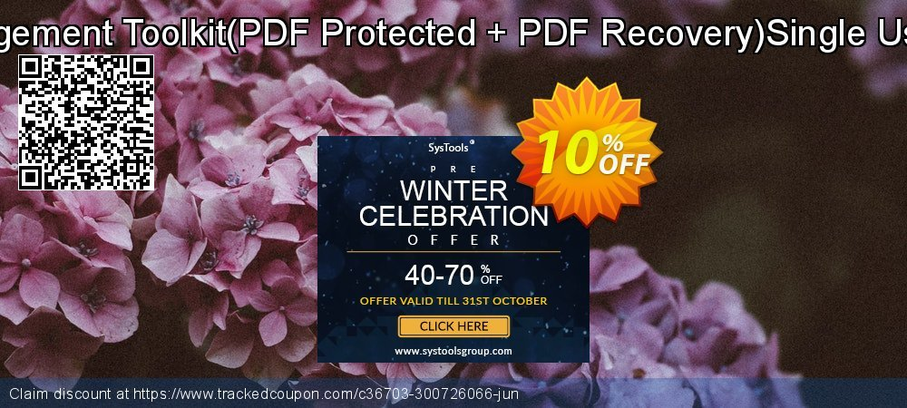 PDF Management Toolkit - PDF Protected + PDF Recovery Single User License coupon on Back-to-School event offer