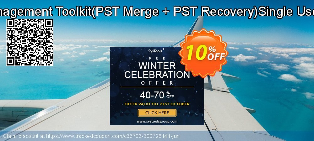 Email Management Toolkit - PST Merge + PST Recovery Single User License coupon on Exclusive Student deals offering sales