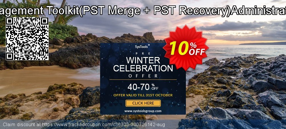Email Management Toolkit - PST Merge + PST Recovery Administrator License coupon on Halloween discounts