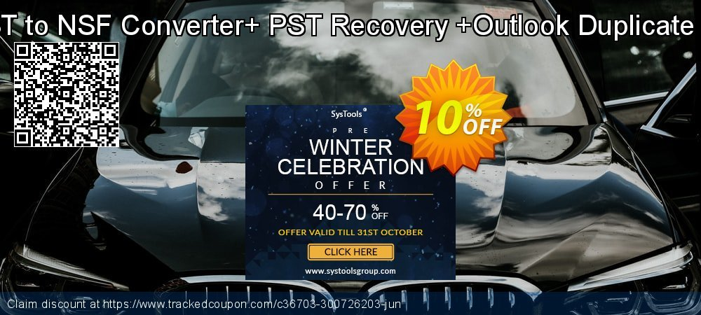 Email Management Toolkit - PST to NSF Converter+ PST Recovery +Outlook Duplicate Remover Single User License coupon on Back to School promotions offering discount