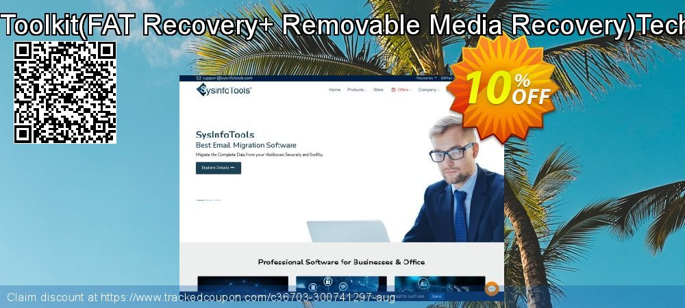 Get 10% OFF Disk Recovery Toolkit(FAT Recovery+ Removable Media Recovery)Technician License offering sales