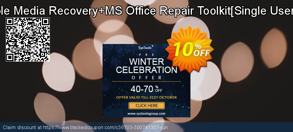 Removable Media Recovery+MS Office Repair Toolkit[Single User License] coupon on Exclusive Student discount super sale