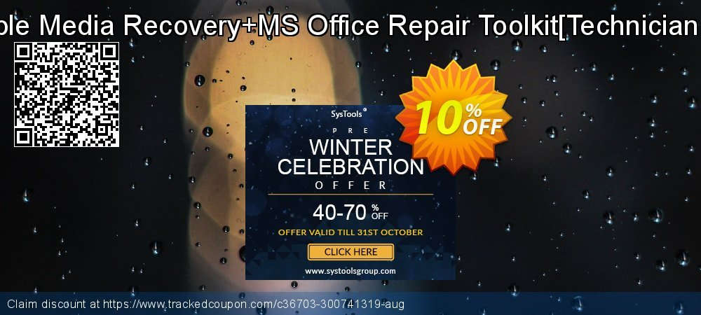 Removable Media Recovery+MS Office Repair Toolkit[Technician License] coupon on Halloween deals