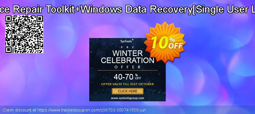 MS Office Repair Toolkit+Windows Data Recovery[Single User License] coupon on Halloween offering discount