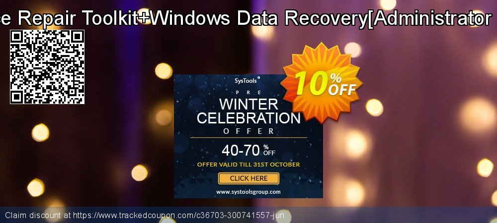 MS Office Repair Toolkit+Windows Data Recovery[Administrator License] coupon on Back to School offer offering discount