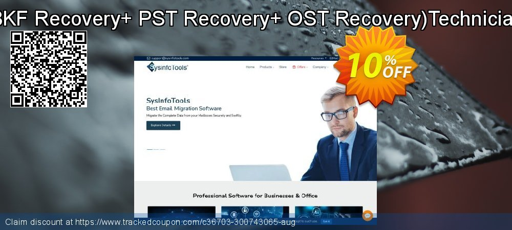 Combo - BKF Recovery+ PST Recovery+ OST Recovery Technician License coupon on Back to School promo sales