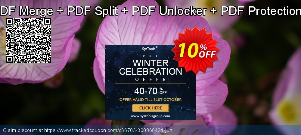PDF Management Toolkit - PDF Recovery + PDF Merge + PDF Split + PDF Unlocker + PDF Protection + PDF Image Extractor Single User License coupon on College Student deals offering discount