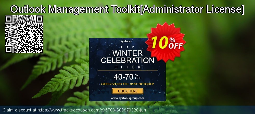 Get 10% OFF Outlook Management Toolkit[Administrator License] offering sales