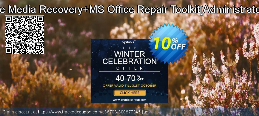 Removable Media Recovery+MS Office Repair Toolkit[Administrator License] coupon on Halloween super sale