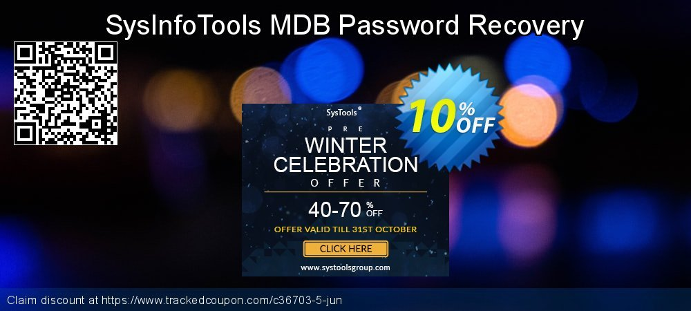 Claim 10% OFF SysInfoTools MDB Password Recovery Coupon discount August, 2019