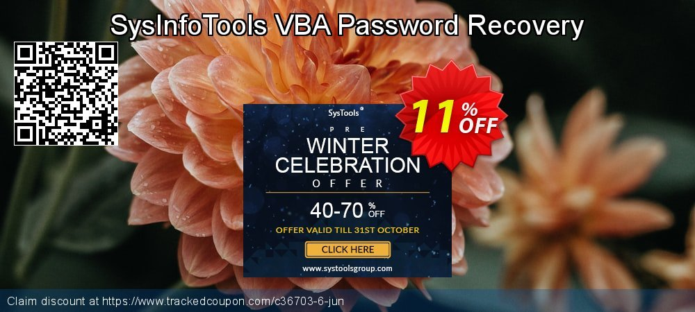Claim 11% OFF SysInfoTools VBA Password Recovery Coupon discount June, 2020