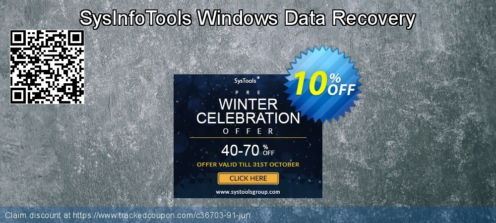 Claim 10% OFF SysInfoTools Windows Data Recovery Coupon discount September, 2019