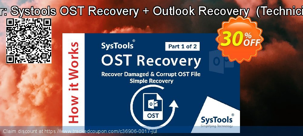 Bundle Offer: Systools OST Recovery + Outlook Recovery  - Technician License  coupon on Black Friday offering sales