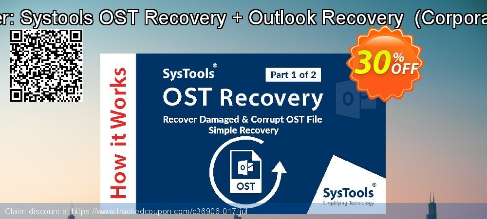Bundle Offer: Systools OST Recovery + Outlook Recovery  - Corporate License  coupon on Black Friday offering sales