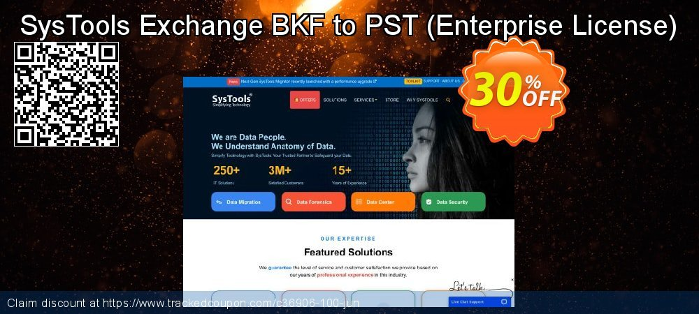 SysTools Exchange BKF to PST - Enterprise License  coupon on 4th of July discount