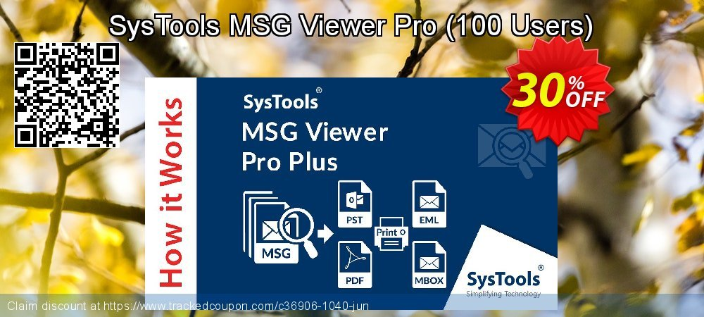 SysTools MSG Viewer Pro - 100 Users  coupon on April Fool's Day discounts