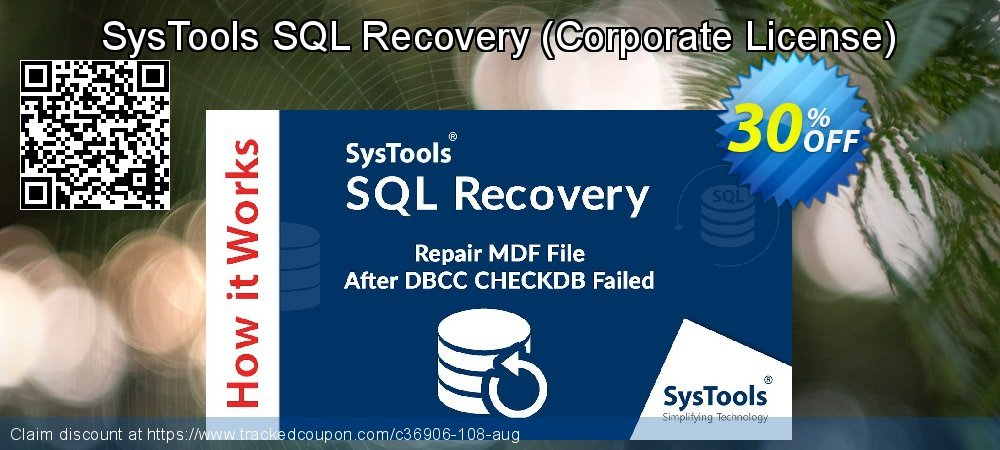 Claim 30% OFF SysTools SQL Recovery - Corporate License Coupon discount July, 2021
