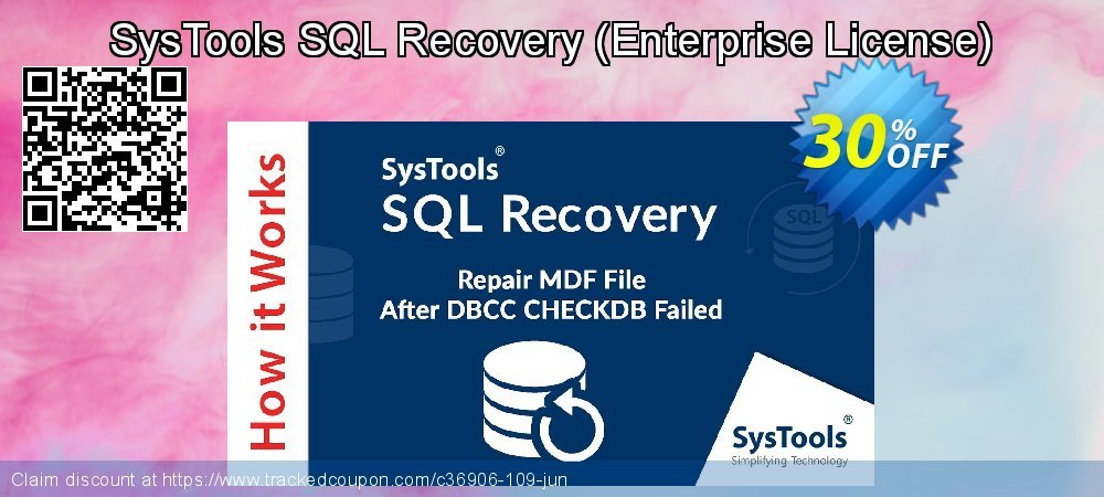 Claim 30% OFF SysTools SQL Recovery - Enterprise License Coupon discount July, 2021