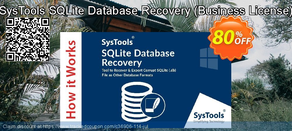 SysTools SQLite Database Recovery - Business License coupon on April Fool's Day offering discount