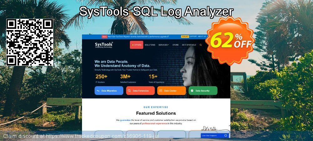 SysTools SQL Log Analyzer - Personal License coupon on US Independence Day offering discount