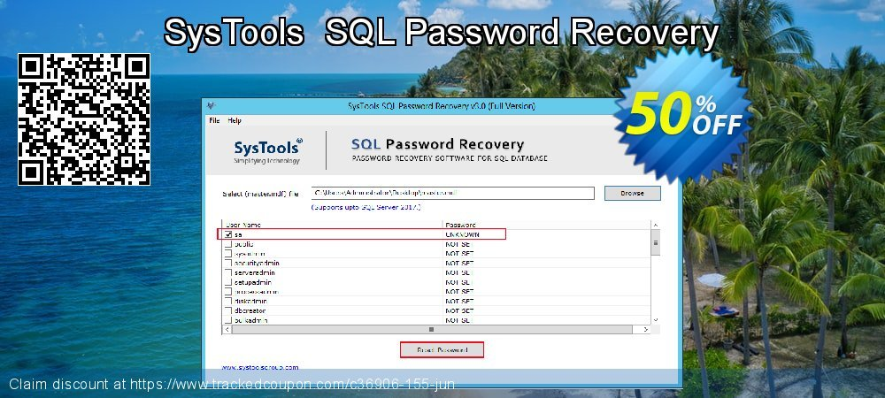Claim 50% OFF SysTools SQL Password Recovery Coupon discount May, 2020