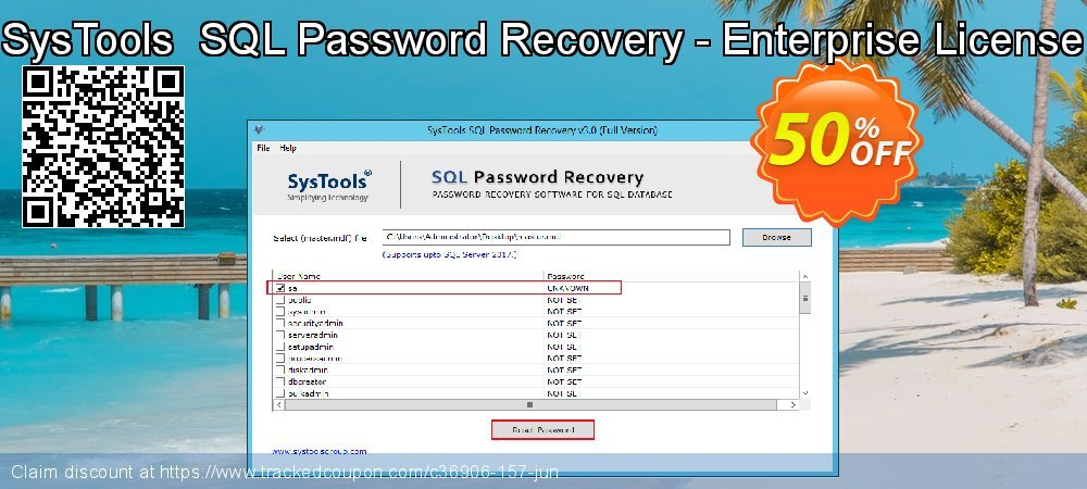 Claim 30% OFF SysTools SQL Password Recovery - Enterprise License Coupon discount November, 2019