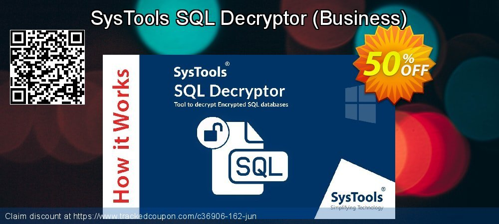 SysTools SQL Decryptor - Business  coupon on July 4th offer