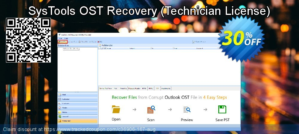 SysTools OST Recovery - Technician License  coupon on Black Friday offer