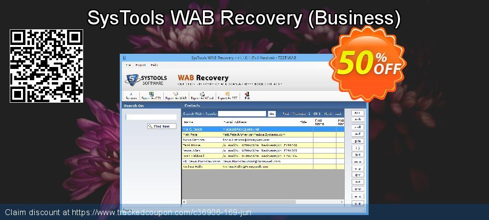 SysTools WAB Recovery - Business  coupon on April Fool's Day promotions
