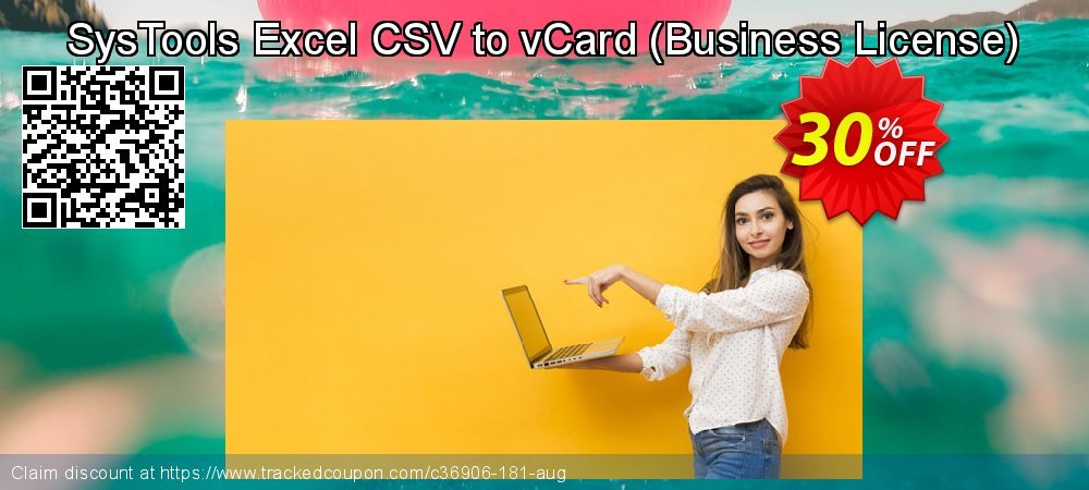 SysTools Excel CSV to vCard - Business License  coupon on Eid al-Adha discount