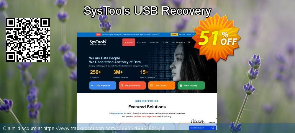 SysTools USB Recovery coupon on American Independence Day sales
