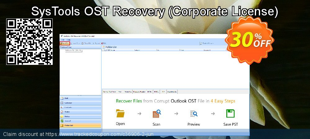 SysTools OST Recovery - Corporate License  coupon on Year-End sales
