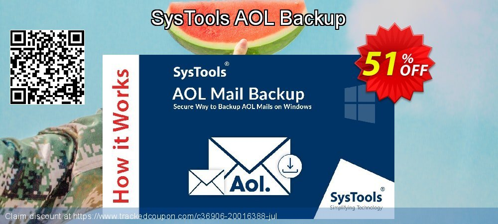 SysTools AOL Backup coupon on 4th of July discount