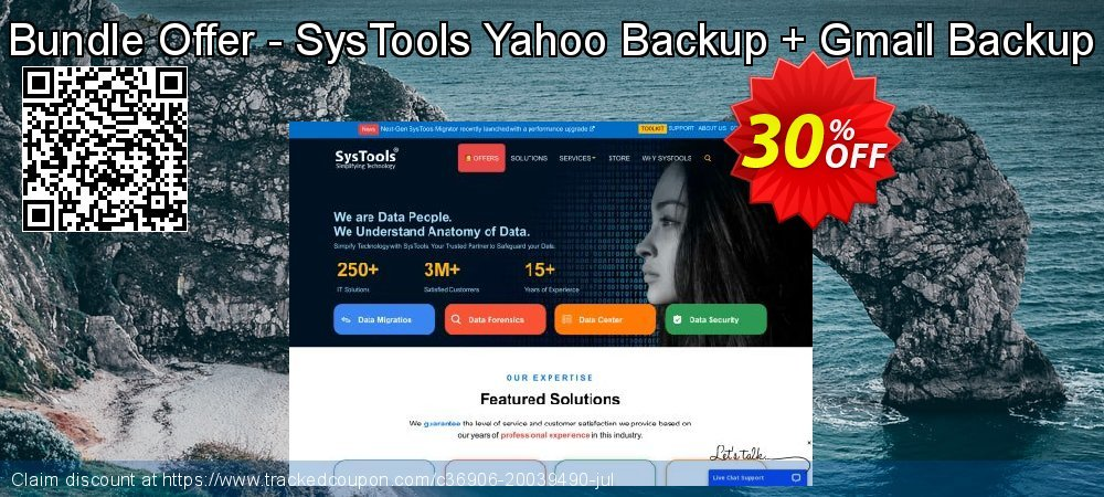 Bundle Offer - SysTools Yahoo Backup + Gmail Backup coupon on Happy New Year offering sales