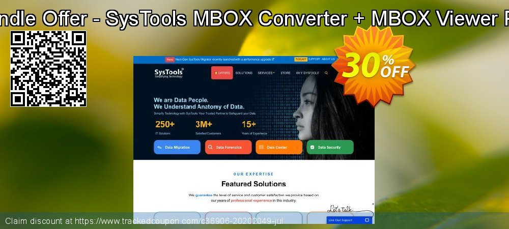 Bundle Offer - SysTools MBOX Converter + MBOX Viewer Pro coupon on Back to School offer offering discount