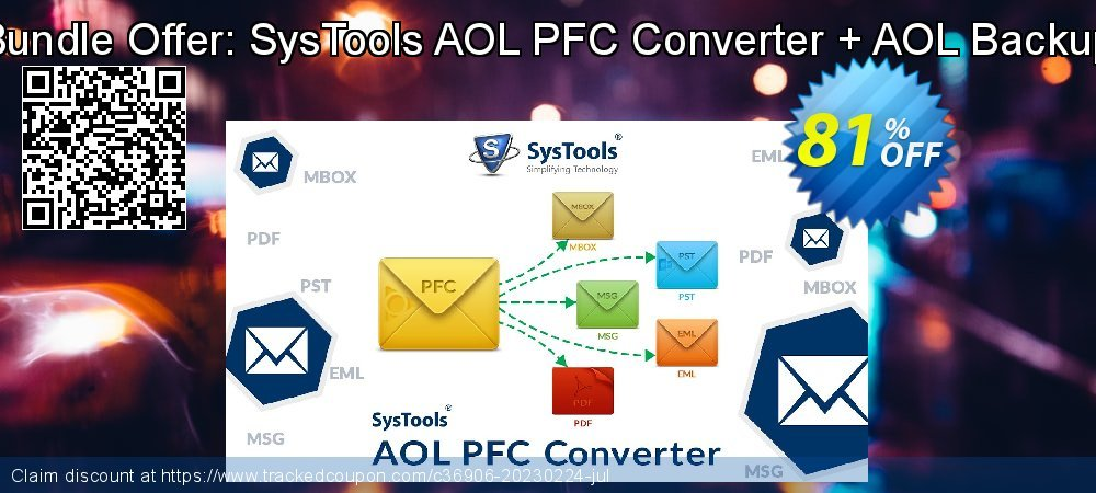 Claim 81% OFF Bundle Offer: SysTools AOL PFC Converter + AOL Backup Coupon discount September, 2021