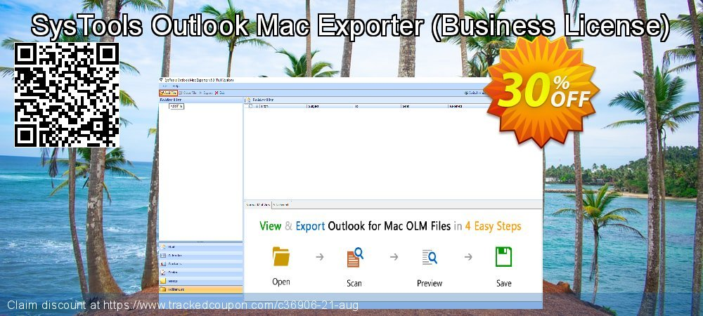 SysTools Outlook Mac Exporter - Business License  coupon on April Fool's Day offering discount