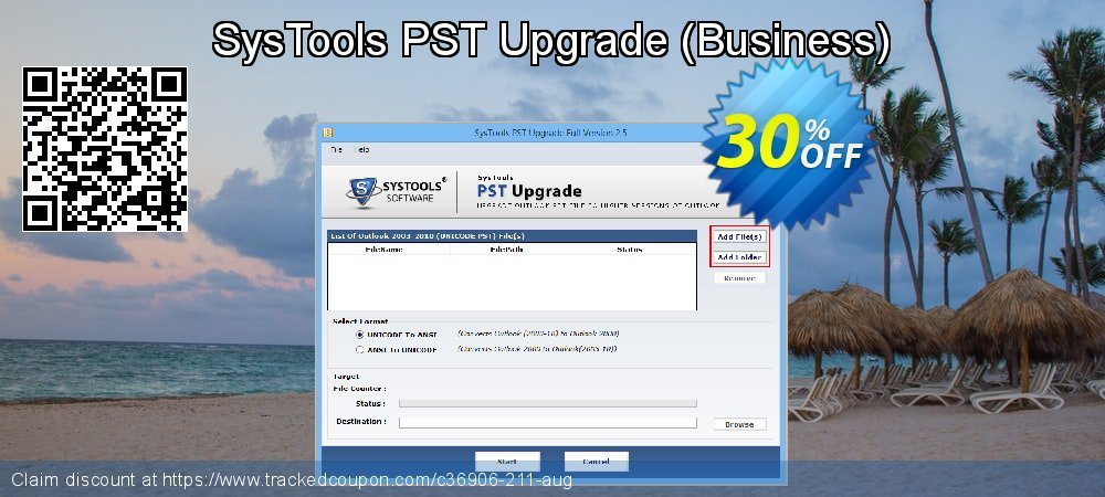 SysTools PST Upgrade - Business  coupon on April Fool's Day offer