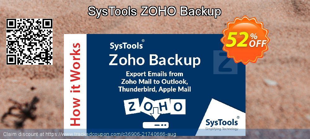 Claim 52% OFF SysTools ZOHO Backup Coupon discount September, 2020